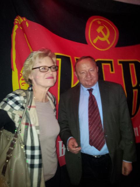 Z Marią, łączniczką i organizatorką spotkania w Sztokholmie