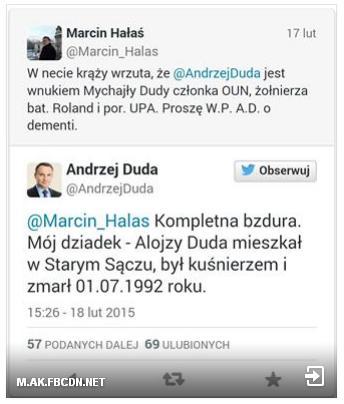 Dementi  Andrzeja Dudy.