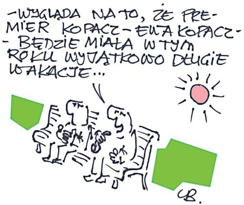 Leszek Biernacki Wakacje kopacz, Ewy Kopacz. rysunek