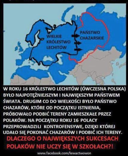 2000lat temu lechickie. polskie. wojska podbiły Chazarów.
