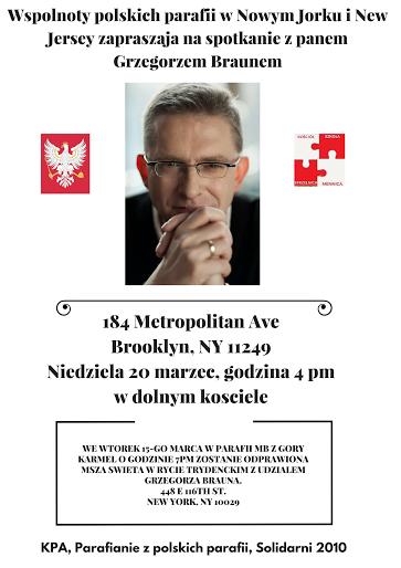 Parafianie polskich parafii w Nowym Jo ... na spotkaqnie z Grzegorzem Graunem