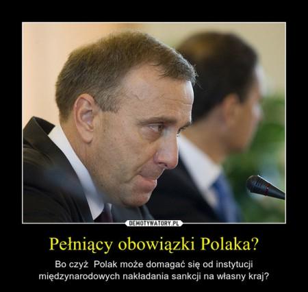 Pełniący obowiązek Polaka.