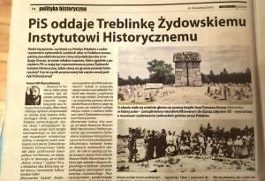 PiS oddaje Treblinke